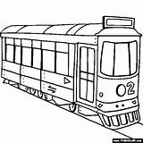 Coloring Pages Trolley Street Drawing Transport Land Printable Thecolor Train Trains Colouring Cartoon Sheet Cars Lego Transportation Locomotive Coloringpages101 Race sketch template