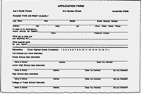 Resume Application Form Free by Blank Resume Forms To Fill Out Resume Resume Form