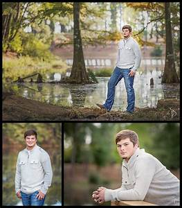 Guy / Male senior portraits in wooded location with a lake ...