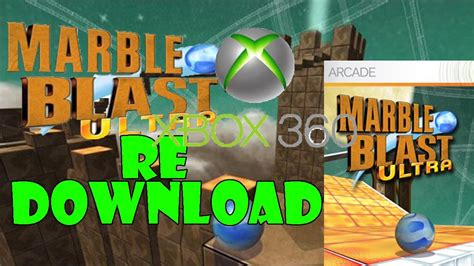Xbox 360 Marble Game Marble Blast Ultra Xbox 360