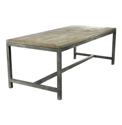 bleached oak dining table abner industrial modern rustic bleached oak grey dining table