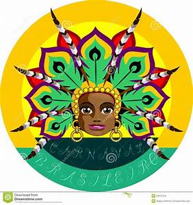 Brazilian Carnival stock illustration. Image of headdress ...