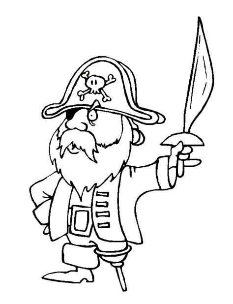 pirate bird black  white coloring pages print