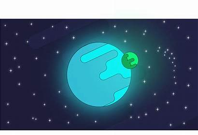 Sky Night Cartoon Starry Transparent Moon Planet