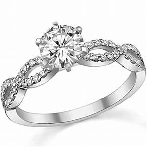 Moissanite Diamond Infinity Twisted Engagement Ring 0