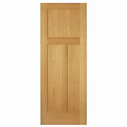 Oak Interior Slab Panel Door Unfinished Mission