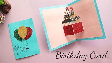 diy pop  birthday card card making handmade card