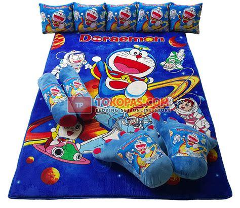 set bantal guling frozen karpet selimut set karakter murah