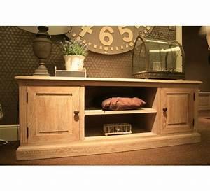 Meuble Tv Chene Massif Moderne : meuble tele chene massif 3623 ~ Teatrodelosmanantiales.com Idées de Décoration