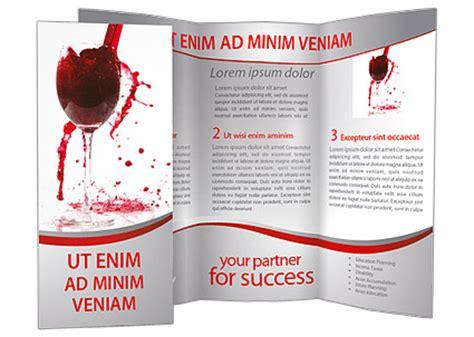 red wine splashing brochure template design id