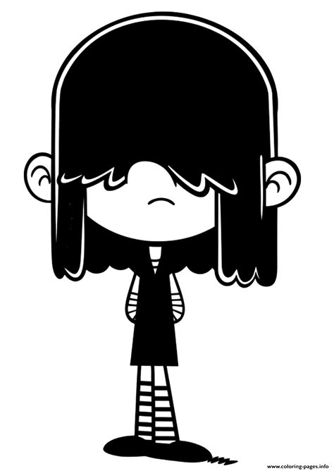 lucy loud house coloring pages printable