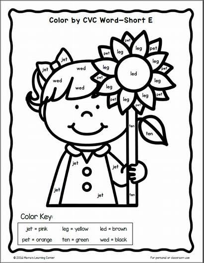 Cvc Coloring Word Worksheet Words Worksheets Fall
