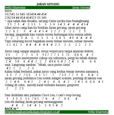 not lagu selamat ulang tahun jamrud not angka lagu nella kharisma jaran goyang not angka terbaru