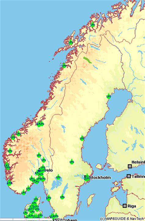 verzeichnis autogastankstellen norwegen lpg refuelling