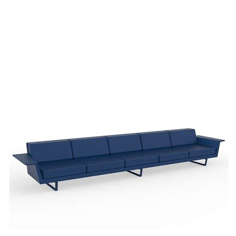 canapé 5 places droit flat canapé extérieur 5 pl canapé droit vondom