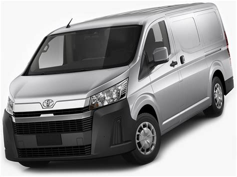 Hiace has been built to help you get the job done in style. Toyota Hiace Van LWB 2020 3D model | CGTrader