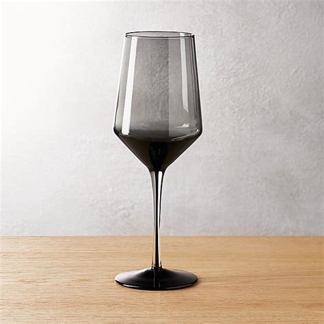ghost smoke grey red wine glass   CB2
