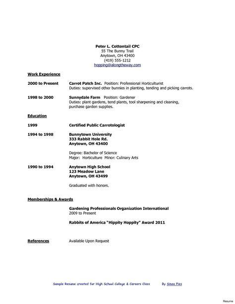 High School Graduate Resume Template by High School Graduate Pit High School Resume College
