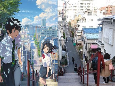 Kimi No Na Wa Your Name The In 1 Dvd 16 9 Subs End Lugares Reais De Your Name Made In Japan
