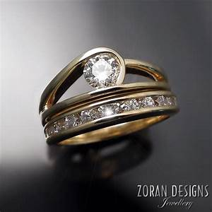 custom made modern engagement ring zoran designs jewellery With contemporary wedding ring designs