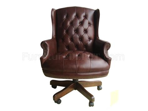brown burgundy or black top grain leather classic office