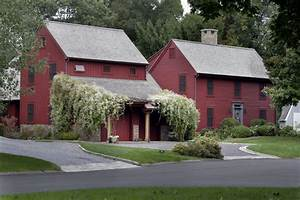barn inspired renovation waccabuc ny farmhouse With barn red outdoor paint