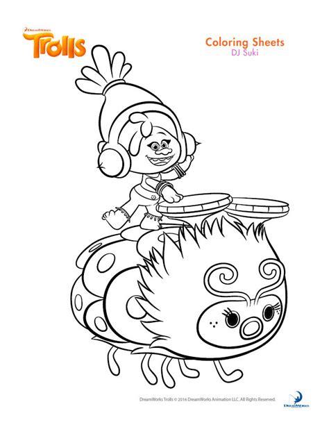 dreamworks trolls coloring book printables joann jo ann