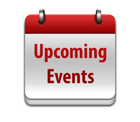 Upcoming events for 2018 JULY - December