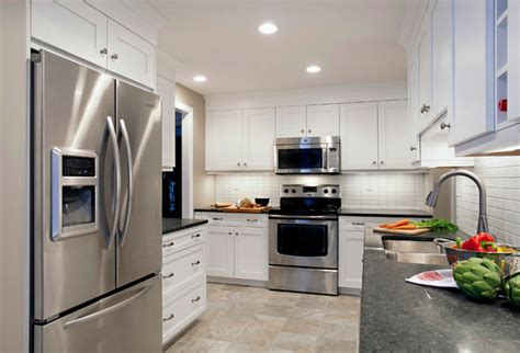 White Cabinets and White Backsplash Tile with Punches of