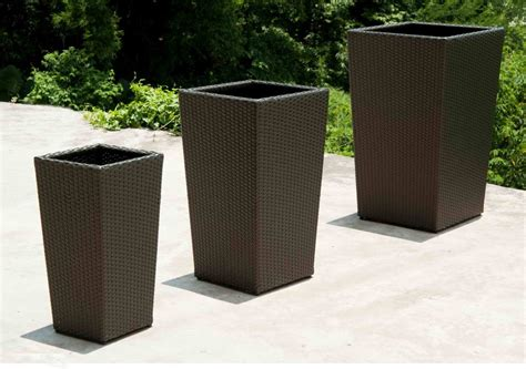 Large Poly Resin Outdoor Planters  Outdoor Designs