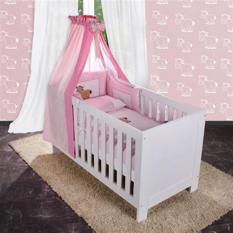 Babybett Im Elternschlafzimmer by 5 Tlg Bettw 228 Sche Mit Applikation Bettset Komplett