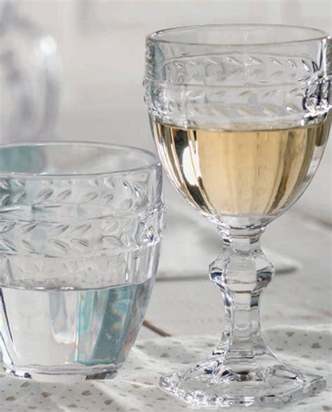 bicchieri shop set bicchieri acqua in vetro foglia brandani mobilia