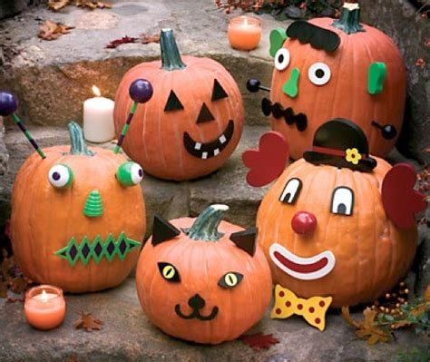 kid friendly halloween pumpkin decorating ideas