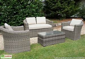 Salon Jardin Resine Tressée : salon resine tressee mobilier de jardin maison boncolac ~ Premium-room.com Idées de Décoration