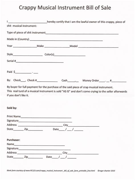 bill  sale  real estate forms