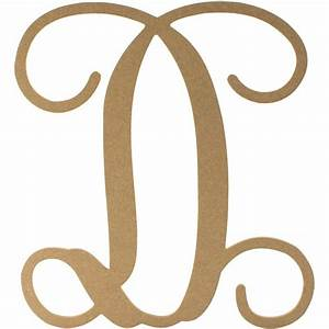 12quot wood letter vine monogram d ab2199 craftoutletcom With vine monogram wood letters