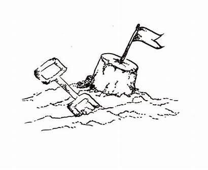 Sand Castle Clipart Drawing Sandcastle Simple Cliparts