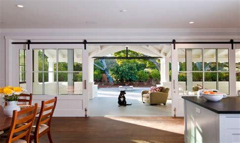 country patio ideas farmhouse kitchen sliding barn doors