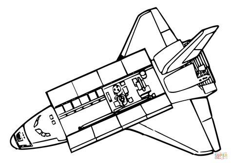 disegno  vista dallalto  space shuttle da colorare