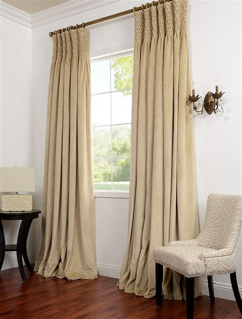 Smocked Curtains Drapes - history of styles window treatments l essenziale