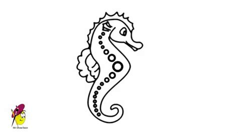Sea horse - Sea Creatures Easy drawing - how to draw a Sea ...