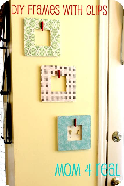 diy decoupaged picture frames  clips mom  real