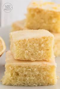 Saftiger Zitronenkuchen vom Blech Backen macht glücklich