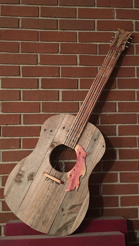 attempt    pallet guitar guitar wall art