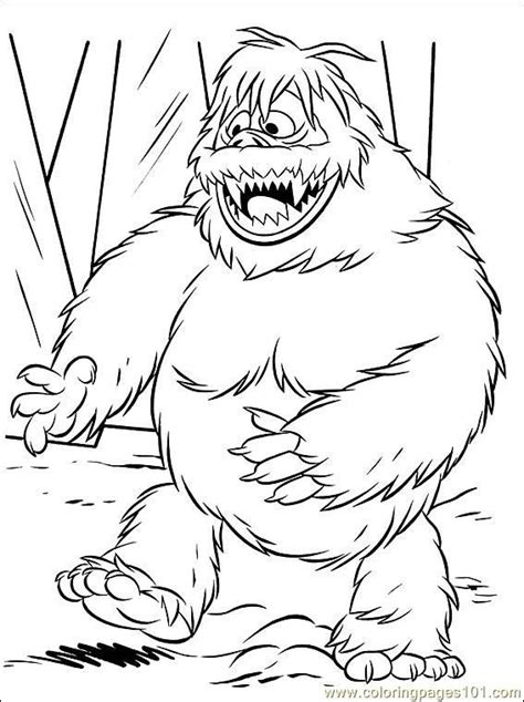 how to draw the rudolph abominable snowman yeti coloring pages coloring pages