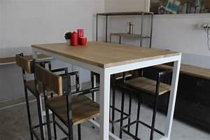 Meuble Mange Debout : mange debout table manger loft industeel ~ Teatrodelosmanantiales.com Idées de Décoration