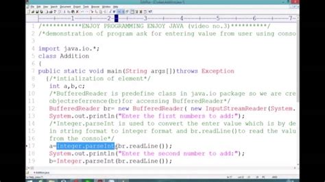 addition   numbers  java  user input youtube