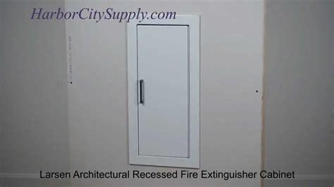 Larsen Extinguisher Cabinets Occult by Larsen Architectural Series Recessed Extinguisher