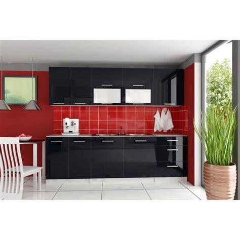 cuisine laque noir cuisine équipée tara 260 cm noir laqué achat vente
