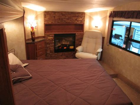 rv bedroom   fireplace  cozy fireplace home